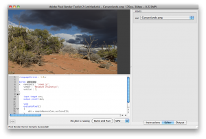 画像はCS5についてきてたPixelBenderツールキット2
