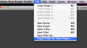 Export For Flash Player...