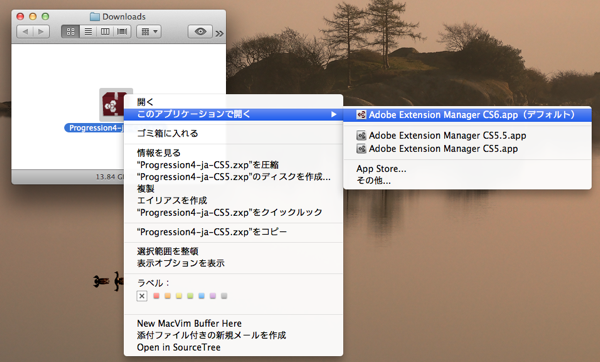 ExtentionManagerCS6で開けるか確認してみて