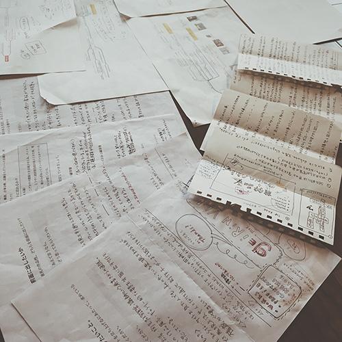 直筆のお手紙とマインドマップのやりとり